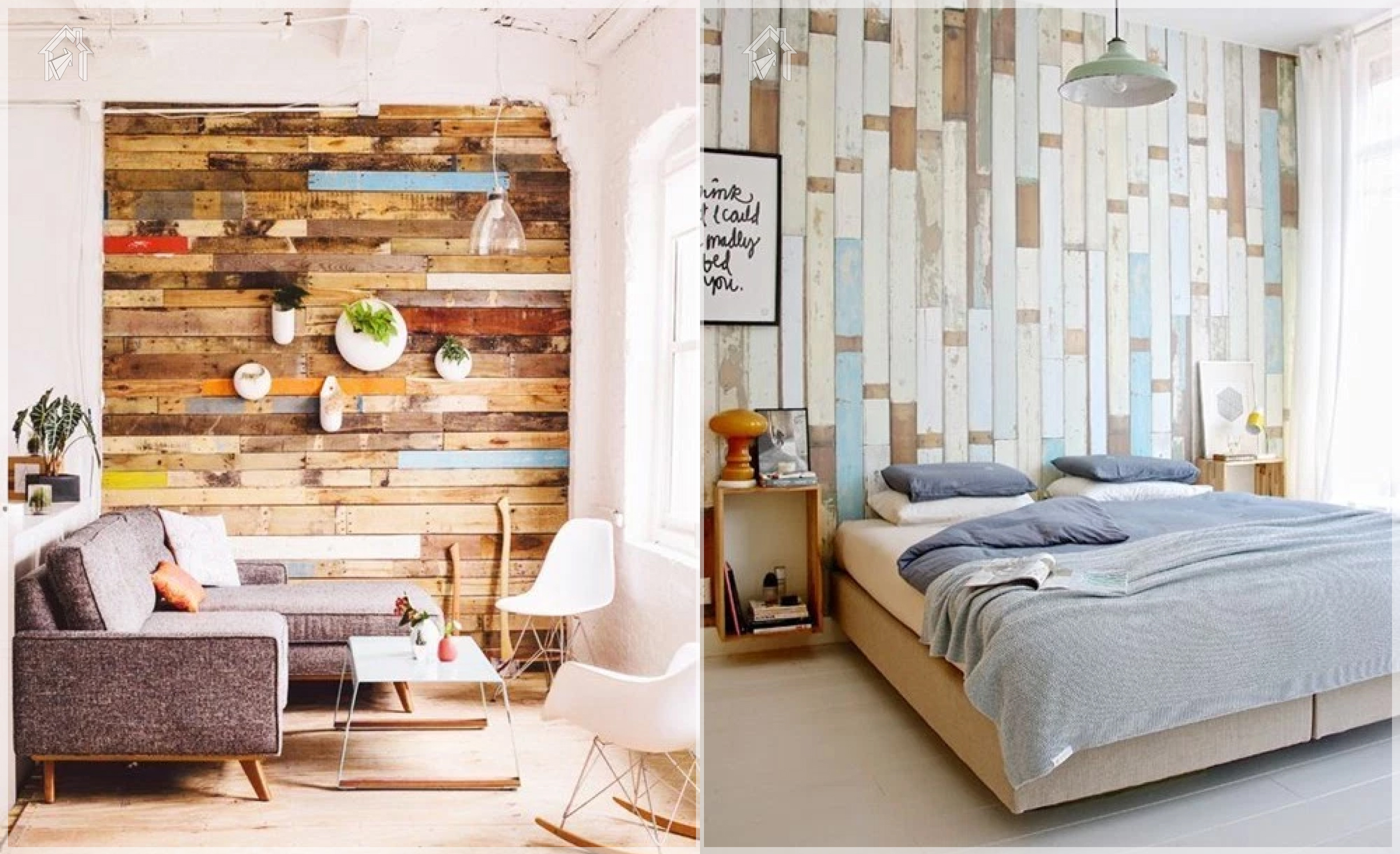 Ideas geniales para decorar tus espacios con palets tu for Pared con palets
